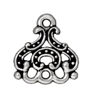 lead free pewter 14mm Empress 3 to 1 link antique silver