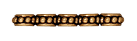 lead free pewter 27mm beaded 5 hole spacer bar antique gold