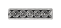 lead free pewter 15mm deco rose 3 hole spacer bar link antique silver