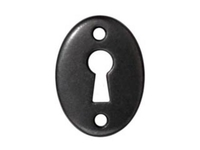 lead free pewter 19 x 14mm Escutcheon link gunmetal