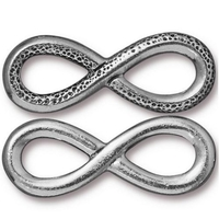 lead free pewter 12 x 31.5mm infinity link antique pewter