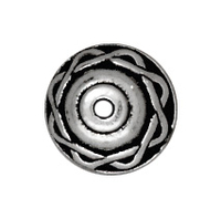lead free pewter 8mm celtic bead cap antique silver
