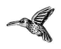 Metal Beads 13 x 19mm hummingbird antique silver lead free pewter copy