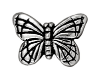 Metal Beads 11 x 16mm butterfly antique silver lead free pewter copy
