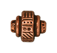 Metal Beads 8mm ethnic barrel antique copper lead free pewter