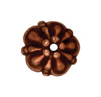 lead free pewter 8mm tiffany bead cap antique copper