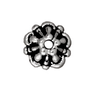 lead free pewter 5mm tiffany bead cap antique silver