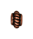 Metal Beads 5mm coiled with double rim antique copper lead free pewter