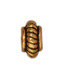 Metal Beads 5mm coiled with double rim antique gold lead free pewter