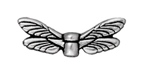 Metal Beads dragonfly wings antique silver lead free pewter