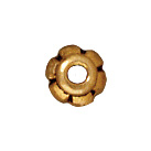 lead free pewter 4mm scalloped bead cap antique gold