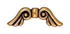 Metal Beads 7 x 21mm angel wings antique gold lead free pewter