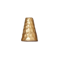 lead free pewter 13 x 9mm hammered cone gold
