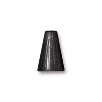 lead free pewter 13 x 9mm textured cone black