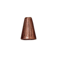 lead free pewter 13 x 9mm textured cone antique copper