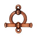 lead free pewter 12mm bar & ring toggle clasp antique copper