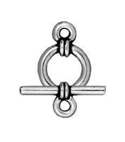 lead free pewter 9mm wrapped toggle clasp antique silver
