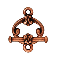 lead free pewter 12mm classic toggle clasp antique copper