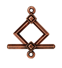 lead free pewter 12mm deco diamond toggle clasp clasp antique copper
