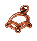 lead free pewter 14 x 11mm melody toggle clasp antique copper