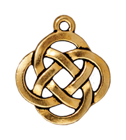 Metal Charms open round knot antique gold 18mm