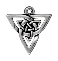 Metal Charms open triangle pendant antique silver 18mm