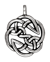 Metal Charms open knot antique silver 23mm