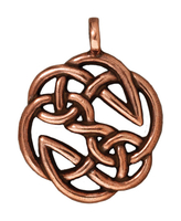 Metal Charms open knot antique copper 23mm