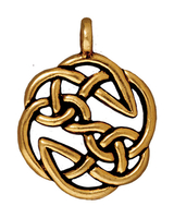 Metal Charms open knot antique gold 23mm