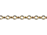 Image goldfill round link cable Chain 2.5mm wide