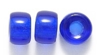 Image Czech Pressed Glass 9mm crow dark sapphire blue transparent