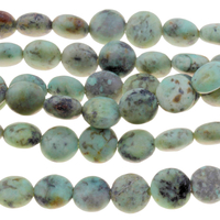 Image African Turquoise 8mm puffy coin blue green with spots