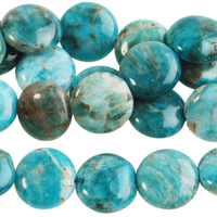 Image Blue Apatite 12mm coin bright blue
