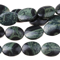 Image Kambaba Jasper 10 x 14mm oval dark green