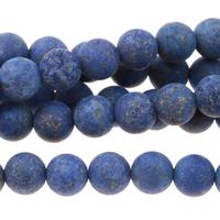 Image Lapis 6mm round dark blue