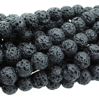 Image Lava 8mm round black