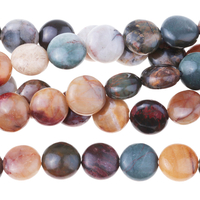 Image Red Creek Jasper 8mm coin mixed colors