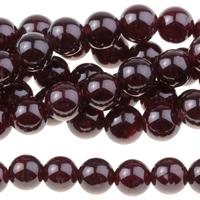 Image Garnet 6mm round wine red