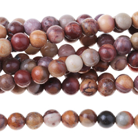 Image Sunset Mookaite 4mm round mixed colors