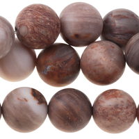 Image Wood Opalite 10mm round mixed beiges and browns