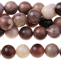 Image Wood Opalite 8mm round mixed beiges and browns