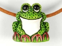Clay Beads 21 x 22mm frog clay