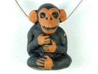Image Clay Beads 15 x 23mm monkey clay
