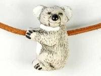 Image Clay Beads 17 x 25mm koala bear clay