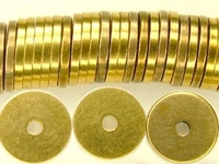 Metal Beads 8mm saucer brass