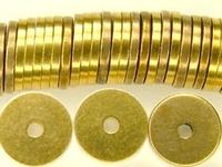 Image Metal Beads 8mm saucer brass
