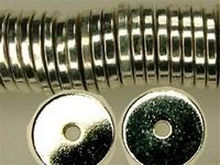 Metal Beads 8mm saucer base metal silver finish