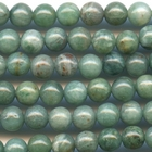 Australian Dragon's Blood 6mm round greenish blue