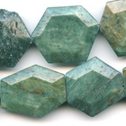 Australian Dragon's Blood 25 x 30mm hexagon greenish blue