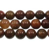 Image Agua Nueva 10mm round earthy golds, browns and reds